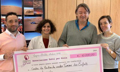 Donazione ai laboratori Gustave Roussy da Tutti per Gioia