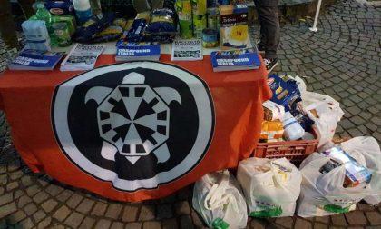 Casapound, prima raccolta alimentare in Martesana