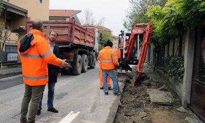 Segrate, via Curiel: partiti i lavori di riqualificazione dei marciapiedi e dell'illuminazione