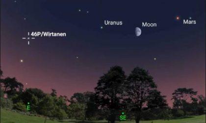 Cometa di Natale (dalla scia verde): arriva nei nostri cieli 46P/Wirtanen