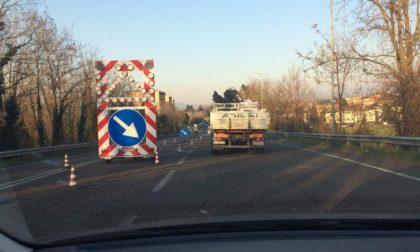 Lavori in Tangenziale Est traffico bloccato
