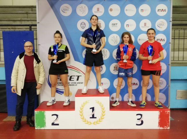 Torneo nazionale tennistavolo Terni Elettra Valenti al primo posto