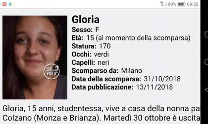 Manca da casa da quasi due mesi: chi ha visto la 15enne Gloria?