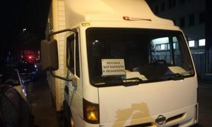 Camion sequestrato sulla Cassanese dalla Polizia Locale