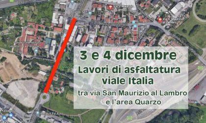 Parte l'asfaltatura di viale Italia: disagi in vista