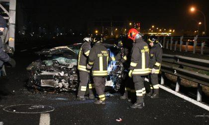 Contromano in Tangenziale provoca incidente:  morto un uomo di Cassina, quattro feriti FOTO