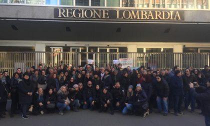 Dipendenti Superdì protestano in Regione Lombardia