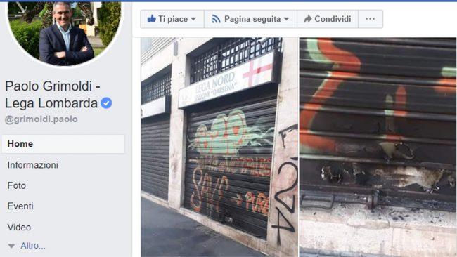 Attacco incendiario alla sede della Lega a Milano: condanna unanime