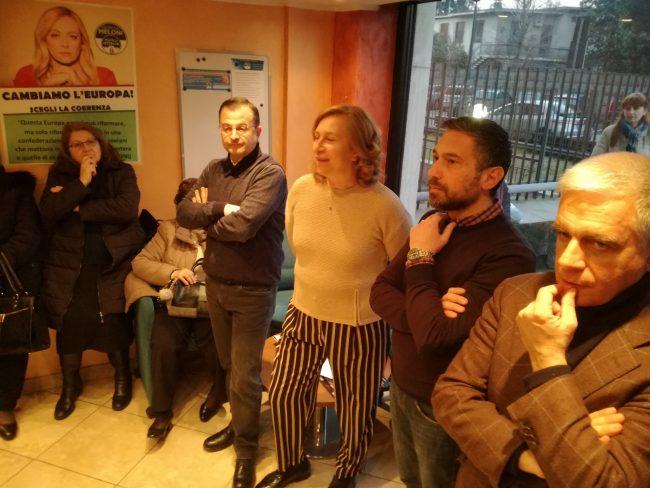 apertura sede fratelli d'italia cologno monzese da sinistra michele russo gianfranca tesauro