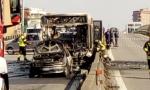 Paullese autobus incendiato da senegalese: ha sequestrato una scolaresca