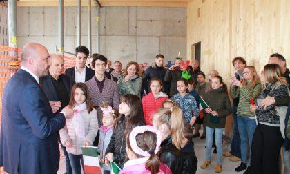 Sopralluogo al cantiere della nuova scuola intitolata  a Etty Hillesum