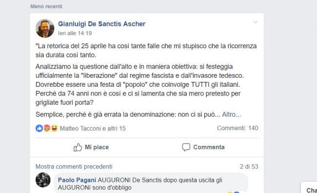 cassina de pecchi fine guerra civile commento facebook di gianluigi de sanctis