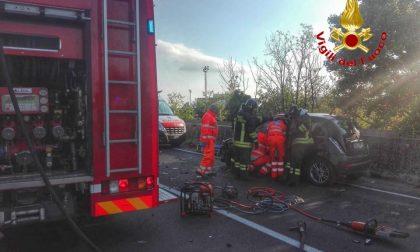Incidente sulla Sp121, traffico bloccato a Cernusco FOTO