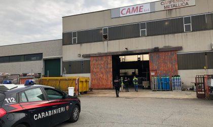 Incidente sul lavoro a Bussero: operaio ferito, arrivano i carabinieri FOTO