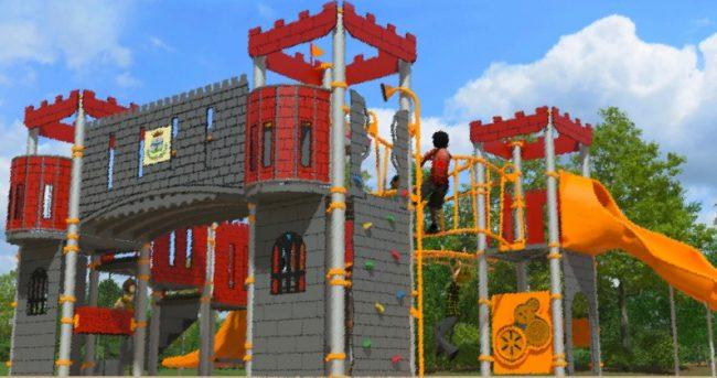Un nuovo parco giochi (con castello) lungo il Naviglio