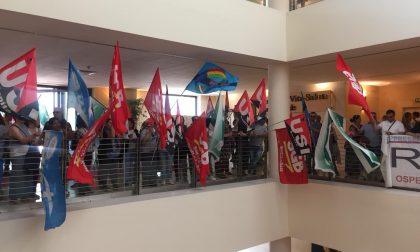 Sciopero dei lavoratori del San Raffaele FOTO