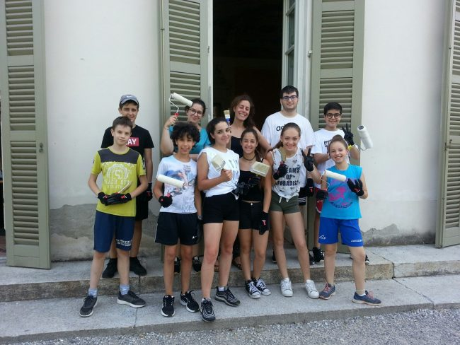 Work camp estivo iniziata l'esperienza a Gessate
