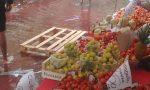 Piazza del Mercato allagata nonostante i lavori a Pioltello
