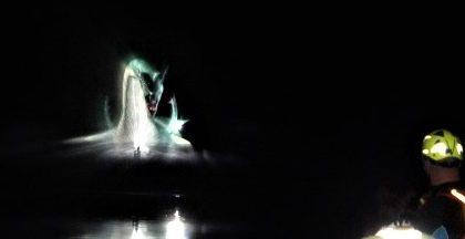 Il drago Tarantasio riemerge dalle acque del fiume Adda FOTO VIDEO