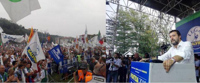 Raduno di Pontida tra slogan, immagini sacre e contestazioni