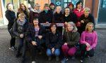 Flash mob contro la violenza sulle donne e per inaugurare la panchina rossa a Gorgonzola FOTO e VIDEO