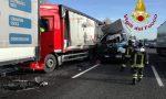 Tamponamento tra Tir in autostrada: camionisti miracolati FOTO