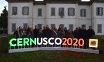 Cernusco 2020 illuminata la scritta in piazza Unità d'Italia