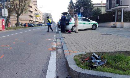 Incidente auto-moto a Cologno, paura per un centauro