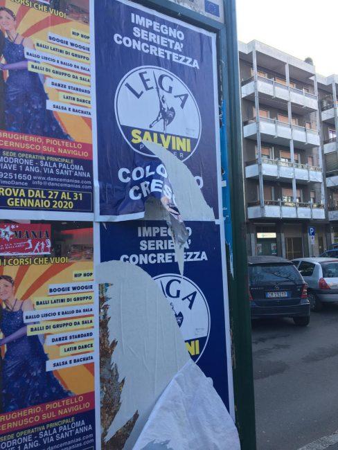 manifesti lega vandali cologno