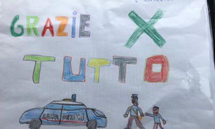 Coronavirus, il disegno del bambino per ringraziare i carabinieri