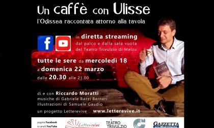 """Il teatro gratis a casa con """"Un caffè con Ulisse"""""""