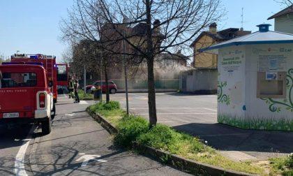 Incendio a Cambiago, a fuoco la centralina elettrica di Torrazza