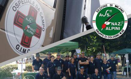 Bonifico da quasi 3mila euro degli Alpini per l'ospedale da campo Covid