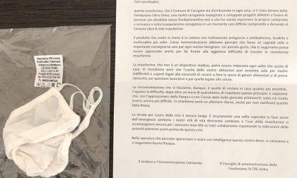 Comune e Fondazione Oltre donano 6mila mascherine ai carugatesi