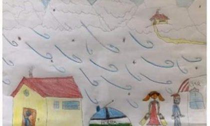 """Il disegno di una bimba per ringraziare la """"sua"""" Polizia Locale"""