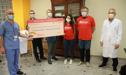 Assegno da diecimila euro: Aleimar in aiuto all'ospedale di Melzo