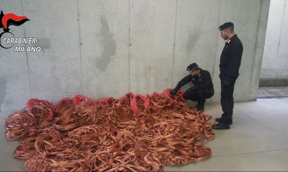 Novecento chili di rame rubati da un capannone sulla Padana: arrestato
