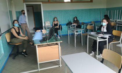 In Martesana una scuola è tornata a far lezione in classe FOTO
