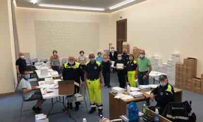 Task force a Cernusco per portare le mascherine a tutti i 36mila residenti FOTO E VIDEO
