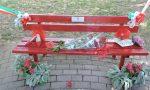 Una panchina rossa in ricordo di Alessandra Cità