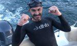 Ha circumnavigato Monte Isola a nuoto