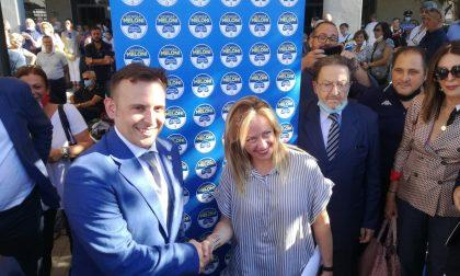 Giorgia Meloni a Segrate per sostenere Sirtori FOTO