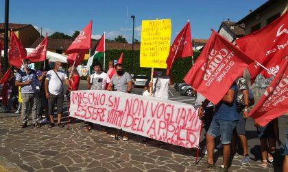 Manifestazione a Trezzo dei lavoratori della Maschio di Grezzago FOTO e VIDEO