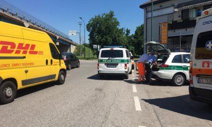 Ciclista investito a Cologno Monzese FOTO