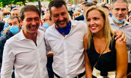 Salvini a Sesto per l'entrata del sindaco nella Lega