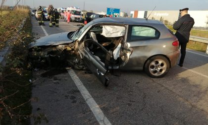 Incidente frontale a Cambiago FOTO