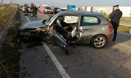 Incidente frontale a Cambiago FOTO