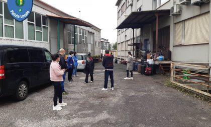 Dormitorio abusivo per operai cinesi scoperto dalla Polizia Locale