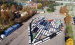 Un cuore di pullman (fermi) a Leolandia: 86 mezzi da tutta la Lombardia VIDEO