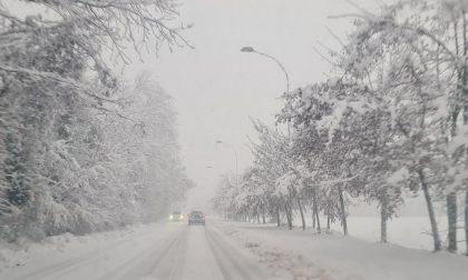 Strade innevate e ghiacciate: un camion bloccato sulla Cerca e difficoltà di muoversi ovunque